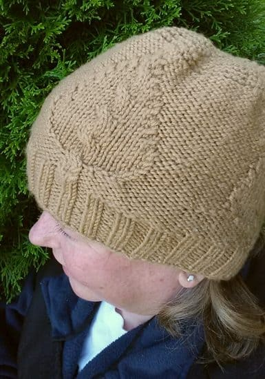 Windblown Leaf Cabled Hat | ASimpleHomestead.com