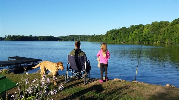 fishing and viewing the lake | ASimpleHomestead.com