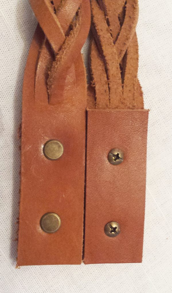braided leather handles