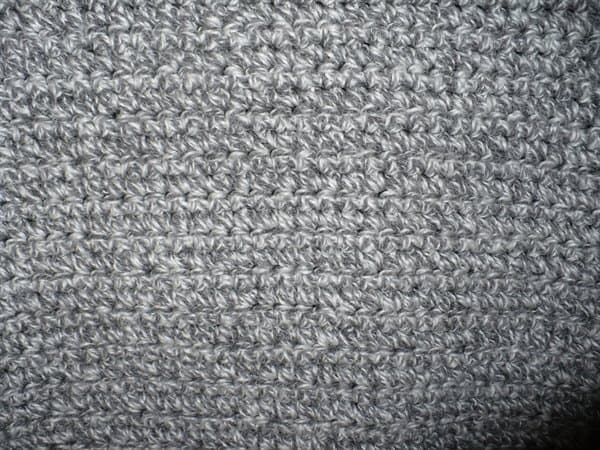 Lion Brand One-Stitch Adult Cardigan closeup
