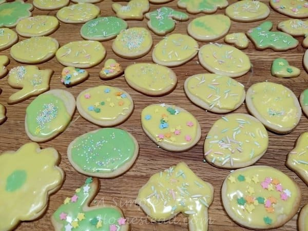 Cream Cheese Cutout Cookies for Easter