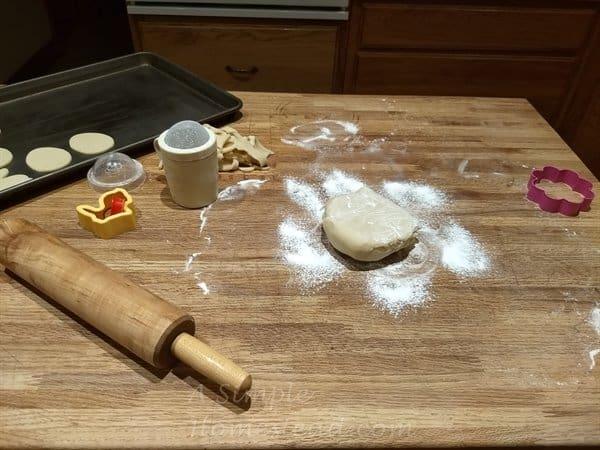 Cream Cheese cutout cookie dough ready