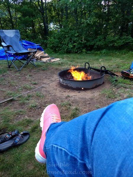 Buckhorn State Park - campfire