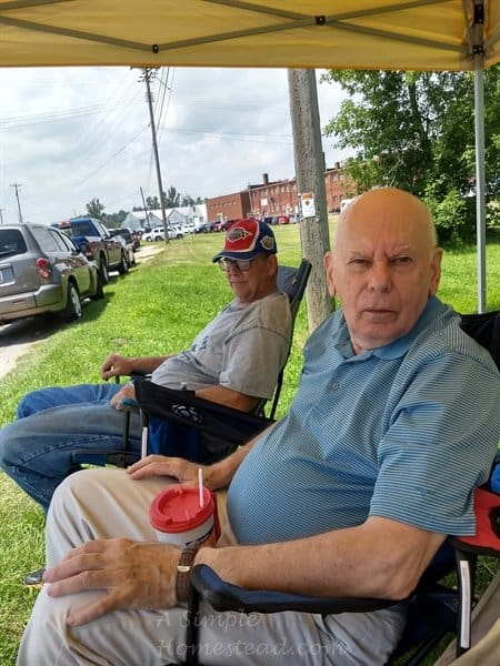 Independence Day parade - Papa and Da