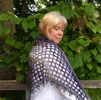Mourning Dove shawl
