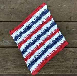 Stars & Stripes Washcloth backside - ASimpleHomestead