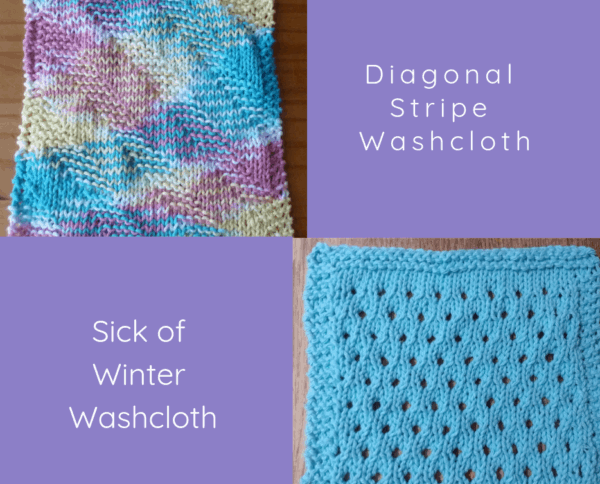 Christmas knit washcloth ideas (ASimpleHomestead)