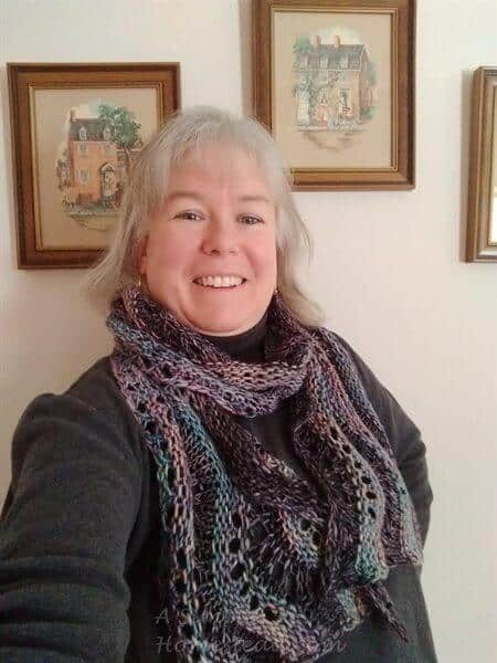 Winter Doldrums Scarf on me