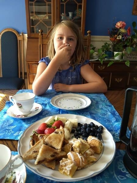 homestead update - a tea party