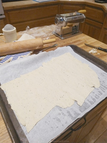 Dough rolled out